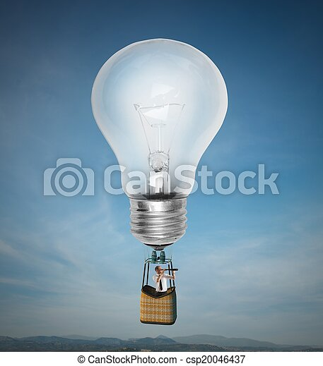 nuovo, volare, idea - csp20046437