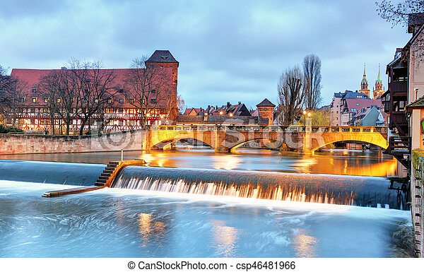 Nuremberg, Germany at Bridge. - csp46481966