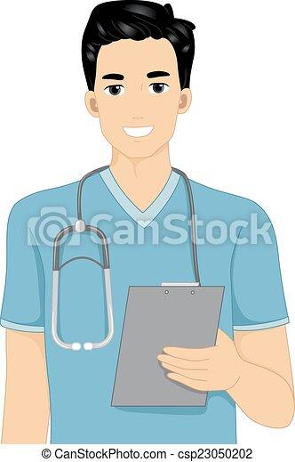 nurse clipboard illustration featuring a male nurse holding a rh canstockphoto com male nurse clipart images Male Nurse Superhero