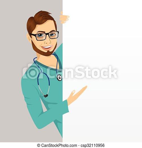 d4197f1cfc4 Young nurse peeking. Cute happy young professional nurse peeking out ...