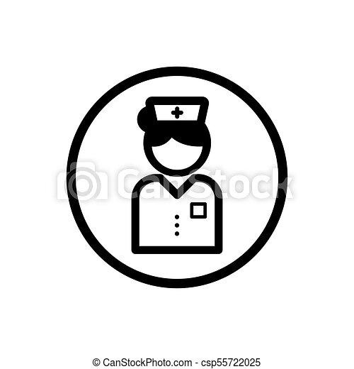 Nurse icon on a white background - csp55722025