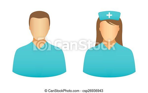 Nurse icons - csp26936943