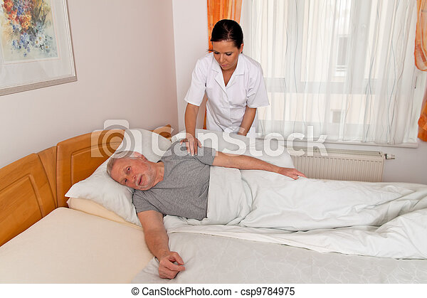 nurse in aged care for the elderly - csp9784975
