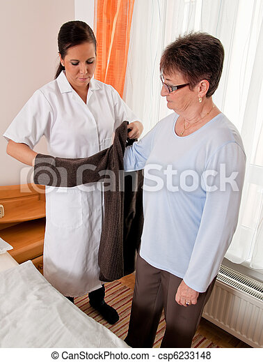 Nurse in aged care - csp6233148