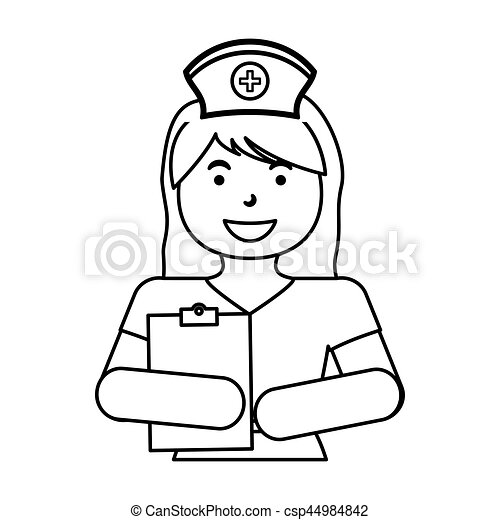 Nurse Medical Profession Icon Vector Illustration Graphic Design