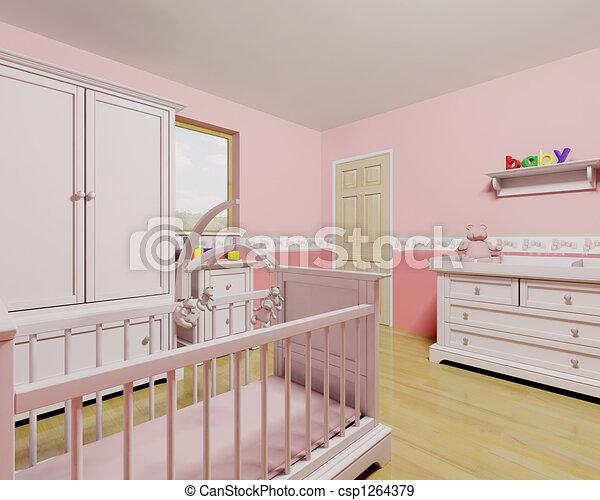 Nursery for baby girl - csp1264379