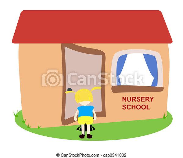 nursery school child entering the nursery rh canstockphoto com lds nursery clipart nursery clipart images