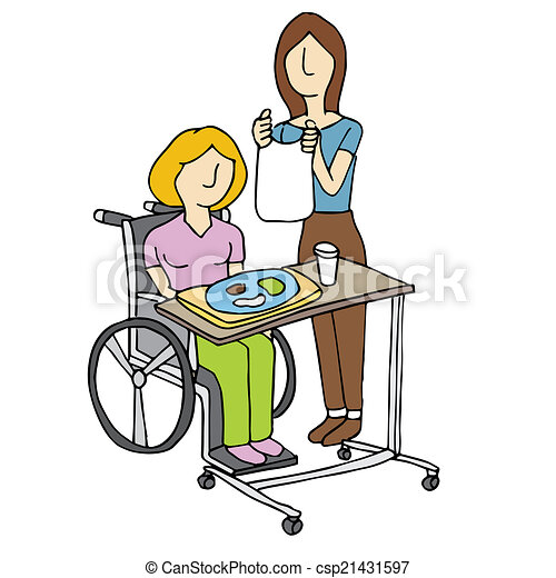 Nursing Home Care An Image Of A Woman Feeding A Nursing Home Patient