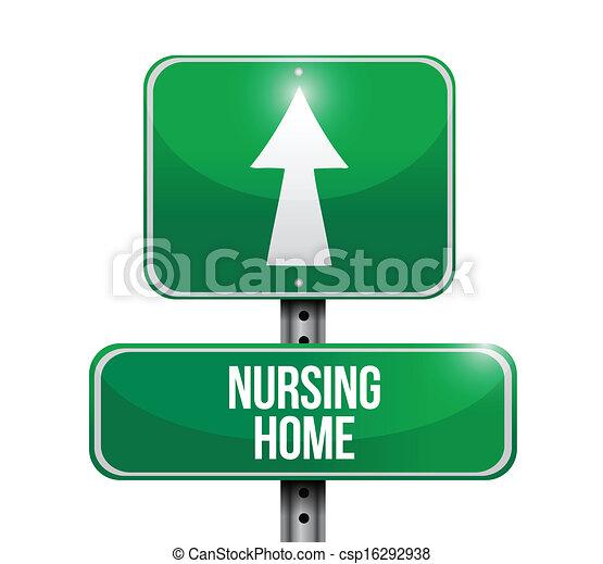 nursing home road sign illustration design over a white vectors rh canstockphoto com nursing home ministry clipart nursing home ministry clipart