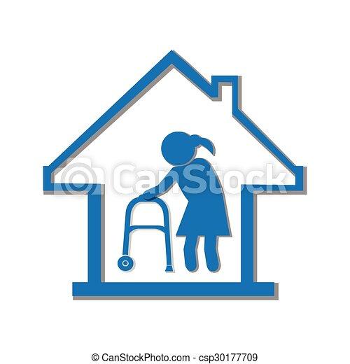 nursing home symbol icon illustration nursing home symbol rh canstockphoto com nursing home week clipart nursing home week clipart