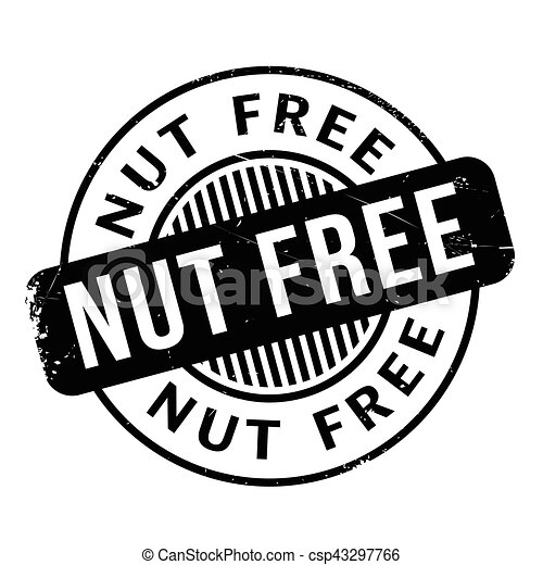 Nut Free Rubber Stamp Grunge Design With Dust Scratches Effects