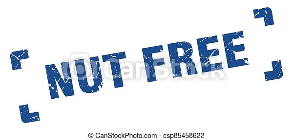 nut free stamp. square grunge sign isolated on white background - csp85458622