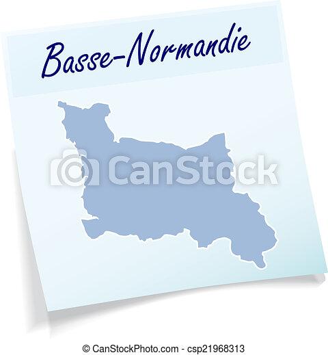 nuta, mapa, niższy, normandy, lepki - csp21968313