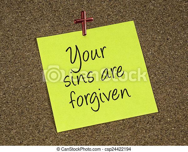 nuta, przypomnienie, forgives, deklaracja, jezus - csp24422194