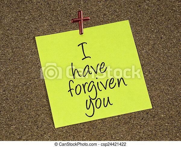 nuta, przypomnienie, forgives, deklaracja, jezus - csp24421422