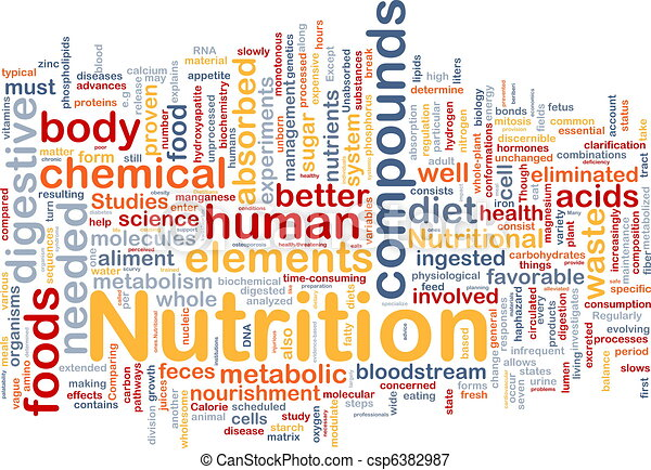 El concepto de fondo de salud nutritiva - csp6382987