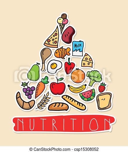 Diseño De Nutrición Sobre Ilustración De Vectores Rosas
