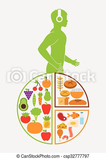 Nutrition And Health Design Vector Illustration Eps10 Graphic