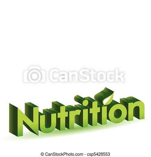 nutrition - csp5428553