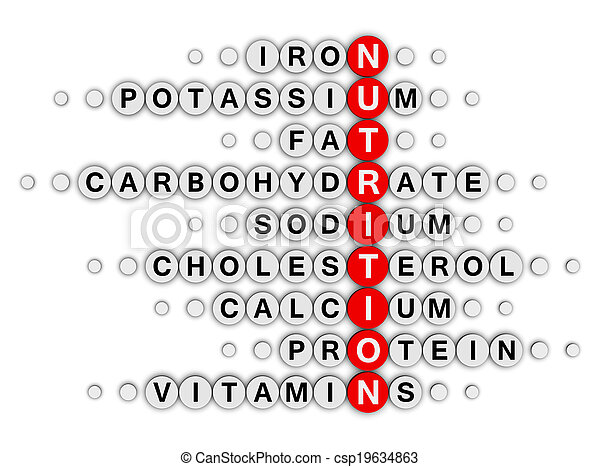 nutrition facts crossword - csp19634863