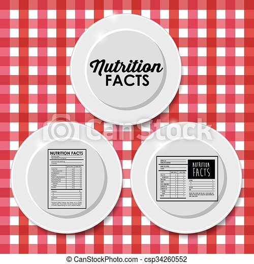 Nutrition Facts Design Vector Clipart