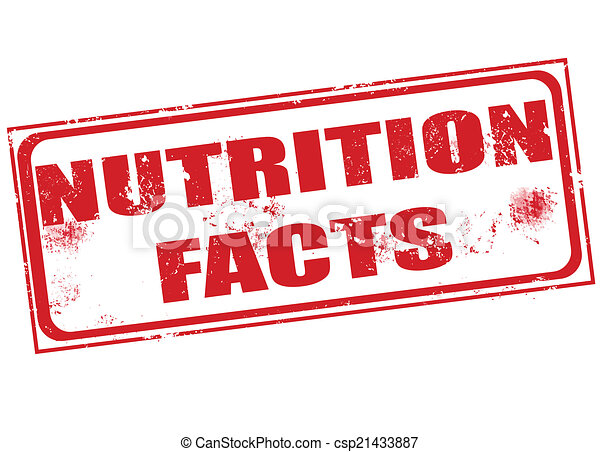 nutrition facts stamp - csp21433887