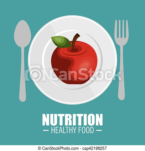 nutrition food infographic icons - csp42198257