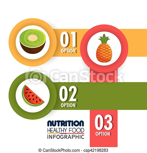 nutrition food infographic icons - csp42198283