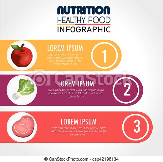 nutrition food infographic icons - csp42198134