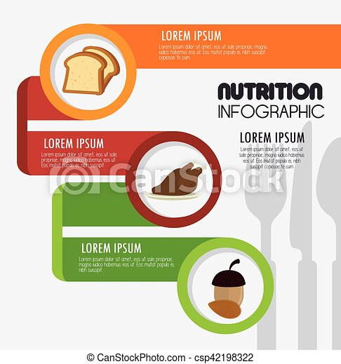 nutrition food infographic icons - csp42198322