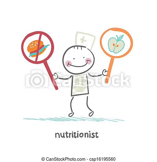 nutritionist promotes healthy food - csp16195560