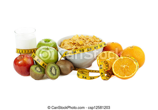 nutritious foods and drink - csp12581203