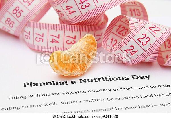 Planeando un día nutritivo - csp9041020