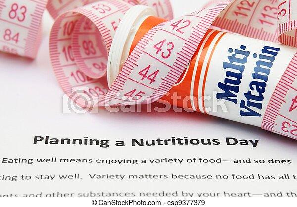 Planeando un día nutritivo - csp9377379