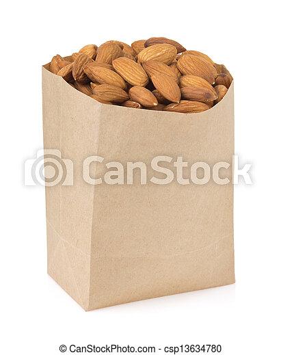 nuts almond on white - csp13634780