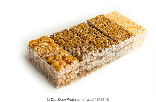 nuts-and-honey bars - csp24785148