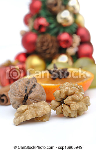 nuts and other fruit for celebration - csp16985949