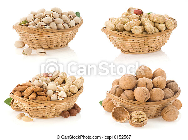 nuts isolated on white - csp10152567