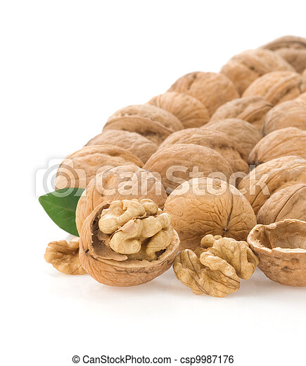 nuts isolated on white - csp9987176