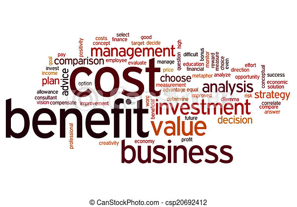 Nutzen, kosten, wort, wolke. Begriff, wort, nutzen, kosten ...