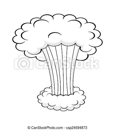 nuvem, fumaça, estouro - csp24594873