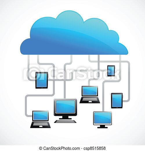 nuvem, imagem, vetorial, internet - csp8515858