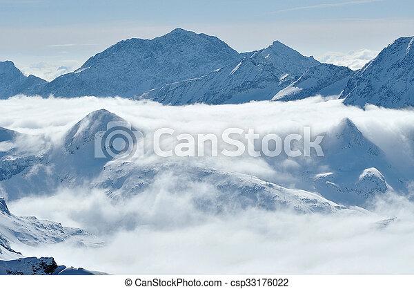 nuvens, acima - csp33176022