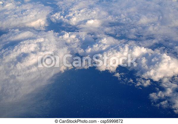 nuvens, acima - csp5999872