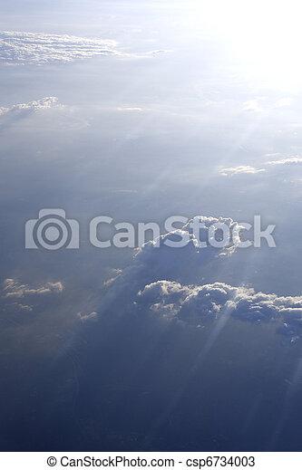 nuvens, acima - csp6734003
