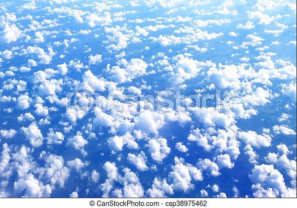 nuvens, acima - csp38975462