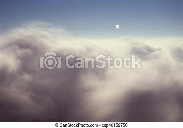 nuvens, acima - csp40152756