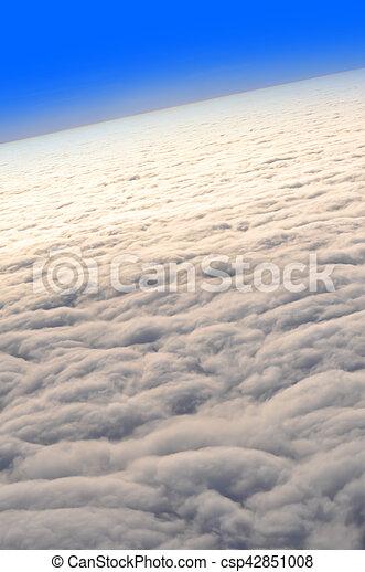 nuvens, acima - csp42851008