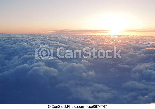nuvens, acima - csp0674747