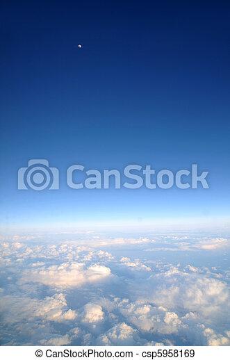 nuvens, acima - csp5958169